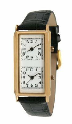 Pedre Unisex Gold-Tone World Traveler Dual Time Zone Watch # 0170GX-Black Pedre. $29.95. Save 67% Off!