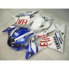 Yamaha YZF-R1 1998-1999 Injection ABS Fairing - FIAT - White/Blue | $659.00