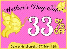 Mothers Day Sale! Save 33% off almost everything in the Scrap Girls Boutique until Midnight ET on May 12, 2013.