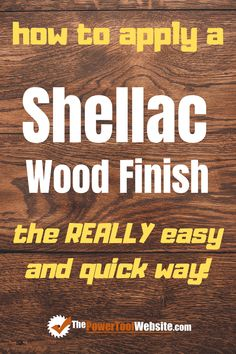 Looking for wood finishing ideas? Try shellac! It's a non-toxic, durable finish that's more protective than oil, and if done like this, it becomes one of the easiest wood finishes to apply. | The Power Tool Website | #shellac #woodfinishes Learn Woodworking, Woodworking Techniques, Easy Woodworking Projects, Woodworking Plans, Diy Your Furniture, Tool Website, Easy Wood Projects, Wood Working For Beginners, Wood Finishing