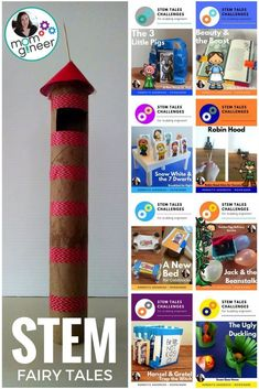 """This resource provides several different activities for ELA teachers that are doing a Fairy Tale unit. Classic Fairy Tales such as """"Little Red Riding Hood"""" and """"Snow White"""" are among the many links listed; each with their own activity. Fairy Tale Activities, Steam Activities, Math Activities, Kindergarten Stem, Stem Preschool, Kindergarten Colors, Stem Science, Math Stem, Kid Science"""