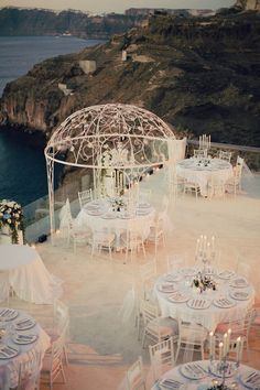 Extravagant Santorini Wedding - Belle The Magazine - Extravagant Santorini Wedding, Italy Wedding Wedding Inspiration from EmmaHuntLondon X Source by - Greece Wedding, Italy Wedding, Wedding Venues Italy, Italian Wedding Venues, Waterfront Wedding, Wedding Themes, Wedding Decor, Wedding Dresses, Wedding Reception