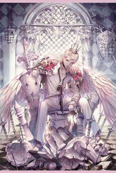Kai Fine Art is an art website, shows painting and illustration works all over the world. Cute Anime Guys, Anime Boys, Manga Japan, Bakugou Manga, 8bit Art, Gothic Anime, Image Manga, Handsome Anime, Anime Artwork
