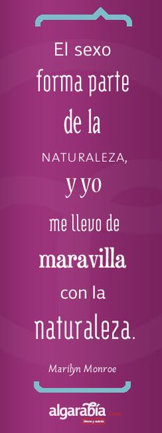 Frase / Cita / Quote: Marilyn y el sexo