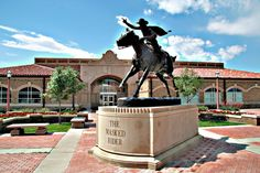 The Masked Rider Bronze Statue by Grant Speed, Texas Tech University, Lubbock, Texas Texas Tech Athletics, Visit Texas, Lubbock Texas, Texas Tech University, Texas Tech Red Raiders, Go Red, Raider Nation, Graduation Pictures, Alma Mater