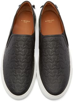 1e53997c1 Givenchy - Black Leather Trident Slip-On Sneakers Sneaker Boots