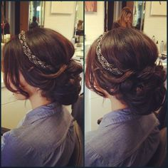 Bedazzling braid, low bun