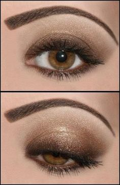 My eyes have a bit more green in them but that would contrast with the gold well. Def gonna try this