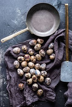 by Darren Muir - Eggs, Frying pan - Stocksy United Food Photography Styling, Food Styling, Egg Pictures, Egg Photo, Easter Table Decorations, Quail Eggs, Le Chef, I Foods, Food Inspiration
