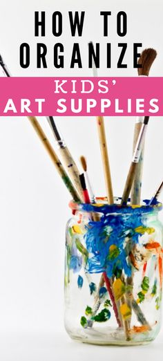 Home Organization Hacks, Organizing Your Home, Declutter, Organize, Keep It Cleaner, Art Supplies, Brushes, Kids Toys, Art For Kids