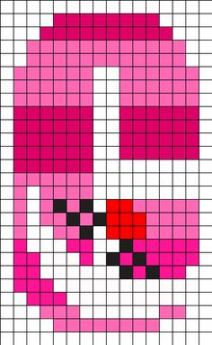 C - Cheshire Cat Disney Character Alphabet Perler Bead Pattern