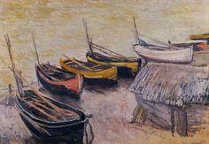 Bateaux sur la plage (C Monet - W 824),1883.