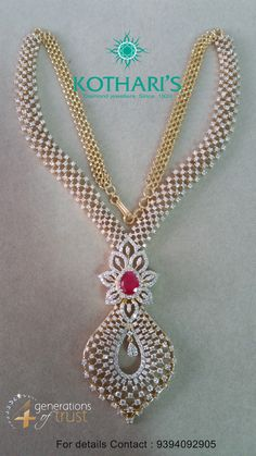 Check out real diamond necklace . Check out real diamond necklace . Real Diamond Necklace, Diamond Pendant, Diamond Jewelry, Diamond Mangalsutra, Diamond Choker, Gold Pendant, India Jewelry, Fine Jewelry, Gold Jewellery