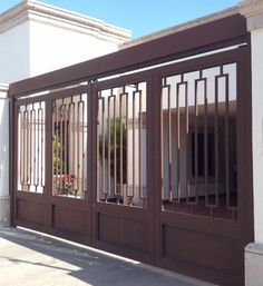 House Main Gates Design, Fence Gate Design, Deck Railing Design, Steel Gate Design, Front Gate Design, Window Grill Design, House Design, Free House Plans, Merida