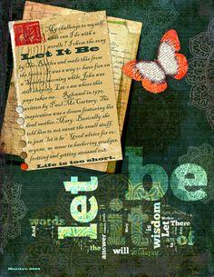 Art Journaling - Let it Be Wordle