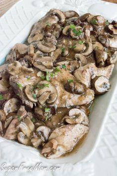 crockpot marsala- low carb, gluten free