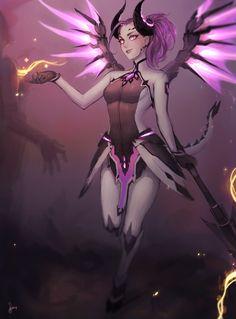 Imp Mercy Wings & Horns Art Print ~ $15 ~ Overwatch Gifts!