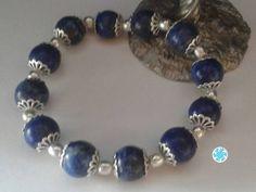 Enchanted Genuine  Lapis Lazuli Egyptian Bracelet, Bastet, Ancient Egypt, Communication Stone, Occult, Wicca, Witchcraft, Christmas, Sale