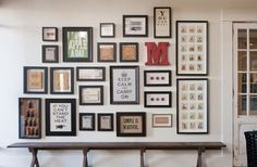 "Neat idea for the collage in the hall.  Gotta find a big ""E"""