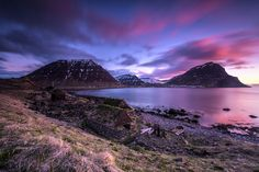 """Harmonic Iceland     by Ralf Germann — """"One of the most colorful sunsets I have ever seen during midnightsun in Iceland. It's a long-time exposure (50 seconds) with a 6-stop-filter on the lens."""""""