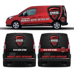 875b26a9d91ccd Create a minimalist van wrap for Chase Detailing s mobile van!