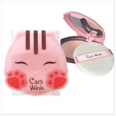 🆕 TonyMoly cat wink powder compact TonyMoly is a Korean brand - adorable cat compact powder in shade: Clear Skin. Brand new. Too cute!! 🐱 TonyMoly Makeup Face Powder