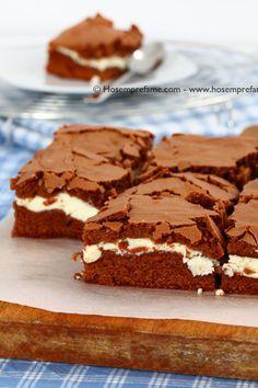 Brownie al cioccolato farciti alla ricotta