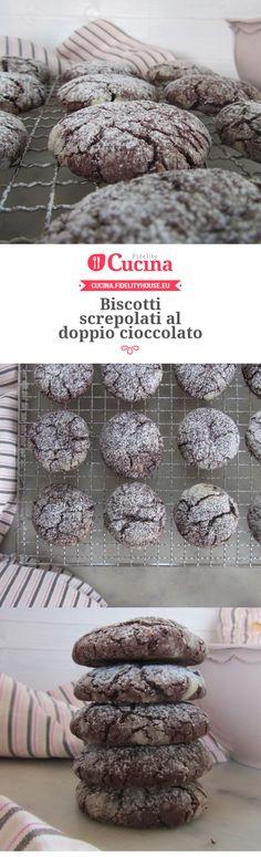 Biscotti screpolati al doppio cioccolato della nostra utente Francesca. Unisciti alla nostra Community ed invia le tue ricette!