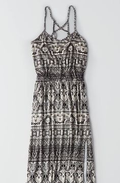 AEO Soft and Sexy Cage Back Maxi Dress by  American Eagle Outfitters   Our AEO Soft and Sexy collection is swingy, drapey and silky soft... Proof that style and comfort aren't mutually exclusive.  Shop the AEO Soft and Sexy Cage Back Maxi Dress and check out more at AE.com.