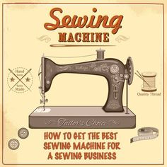 Get the best sewing machine for your sewing business without spending extra money. Sewing Blogs, Sewing Hacks, Sewing Tutorials, Sewing Projects, Sewing Ideas, Sewing Tips, Sewing Machines Best, Vintage Sewing Machines, Sewing Clothes