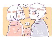 Cute Anime Chibi, Kawaii Anime, Moody Wallpaper, Cute Chibi Couple, Cute Cartoon Images, Cute Love Stories, Cute Little Drawings, Dibujos Cute, Anime Poses Reference