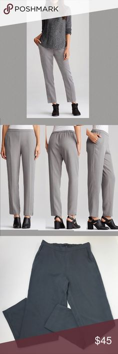 """Eileen Fisher tapered ankle pants Super cute and stylish tapered pants. Great for the office, wear casually or dress them up. Estimated measurements: inseam 27"""" rise 9 1/2"""" Eileen Fisher Pants"""