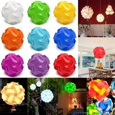 32CM 30PCS Elements Modern IQ Jigsaw Pendant Light Home Hanging Xmas Ceiling Lamp Shade
