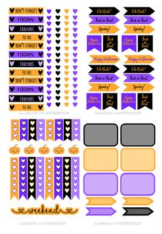 Hi everyone! Can you believe it's already October?! The holidays are just around the corner. I wanted to share some new free stickers with all of you! This printable includes everything you need to decorate your planners for all of October! It includes section headers, checklists, squares, and fun quote flags! I hope you enjoy! …Continue Reading...