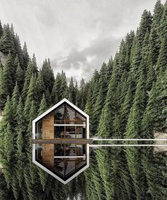 """Architecture & Design on Instagram: """"What are your first thoughts 💭 Designed by @alex_nerovnya Located in 📍 Follow @archdizayn for daily home design and architecture…"""" Cabins In The Woods, House In The Woods, Cottage In The Woods, Casa Hygge, Haus Am See, Design Exterior, Forest House, Forest Cabin, Home Pictures"""