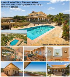 6 beds, 3 baths Villa in Churriana, Málaga  Reduced to € 875k from €1,49 M.With breathtaking views and built to very high specifications.Only 10 min. from the airport and less than 20 min. from Málaga´s city centre. Among its many unique features the villa has solar heating, a BBQ house, de luxe kitchen appliances, heated outdoor pool, centralised vacuum system, walk-in wardrobes, and it is for sale fully furnished.Beach 5 min. drive, bars/restaurants 2 min. drive… Bbq House, Restaurant 2, Walk In Wardrobe, Outdoor Kitchen Design, Malaga, Outdoor Pool, Solar, Wardrobes, Exterior