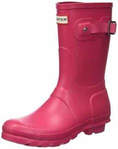 Hunter Women's Original Short Rain Boot Coral Boots, Orange Boots, Pink Rain Boots, Silver Boots, Navy Boots, Short Rain Boots, Yellow Boots, Rubber Rain Boots, White Boots