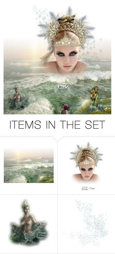 """""""Sea Queen"""" by stingrayro ❤ liked on Polyvore featuring art"""