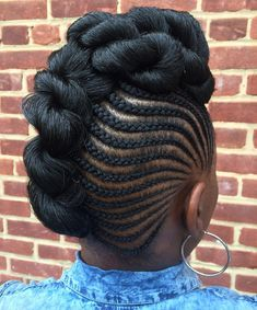 hair styles for curly hair i this braided and curly mohawk hairstyle buns and 3386
