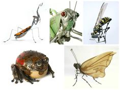 Intricate Animals Made from Scrap Metal and Old Auto Parts #Animals, #Art, #Insects, #Metal, #Sculpture