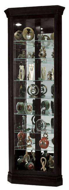 Duane Black Corner Curio Cabinet