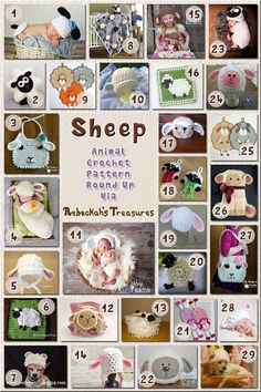 Sheep Apparel and Accessories - Animal Crochet Pattern Round Up via @beckastreasures