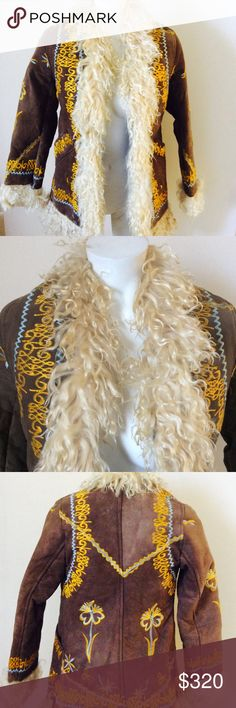 4c755a7a Vintage 70's Sherling Jacket S/XS * Vintage late 60s-early 70s Afghan Coat