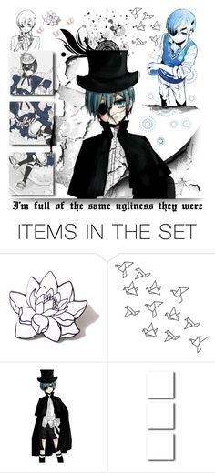 """#495 Damaged \\ Ciel Phantomhive"" by my-names-michi ❤ liked on Polyvore featuring art"