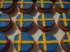Swedish Flag Cupcakes
