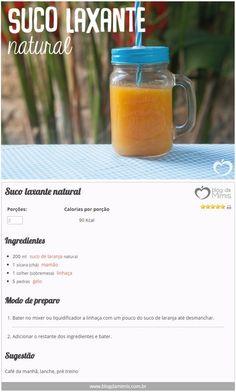 Suco laxante natural - Blog da Mimis #blogdamimis #suco #laxante #natural #constipação #intestinal #intestinopreso #receita
