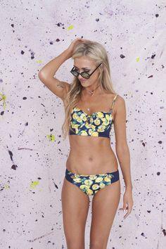 Lemon Tropical Bikini Top   Primark
