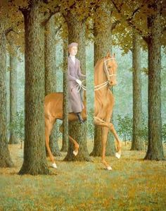 Rene Magritte.  not usually a fan, but this got my attention - in a good way.