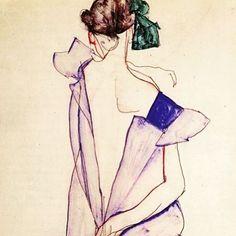 On this earth I stride and I did not sense my limbs, I felt so light #egonschieleswomen #egonschiele #schiele #simplicity #art #poetry
