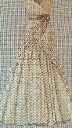 Open dress stitch, needlepoint